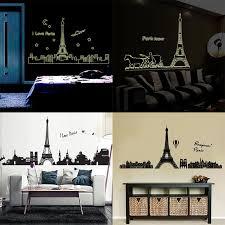 Diy Fluorescent Paris Eiffel Tower Building Wall Sticker Large Wall Art Mural Decal Living Room Bedroom Dorm Decoration Stickers Wall Stickers Aliexpress