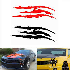 2020 40cm 12cm Funny Car Sticker Reflective Monster Scratch Stripe Claw Marks Car Auto Headlight Vinyl Decal Car Styling From Auto2011 1 31 Dhgate Com