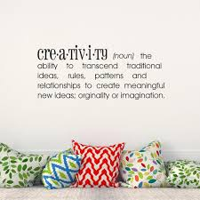 Creativity Definition Vinyl Lettering Wall Decal Wall Words Etsy