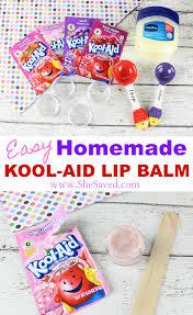 easy homemade kool aid lip balm shesaved