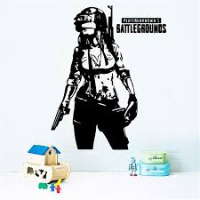 Pubg Vinyl Wall Decal Soldier Helmet Video Game Battlefield Art Decor Nursery Kids Room Removable Wall Sticker Stickers For Wall Stickers For Wall Art From Joystickers 12 66 Dhgate Com