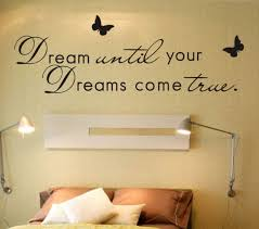Dream Until Your Dreams Come True Wall Decal Butterfly Wall Decal Dream Wall Quote Decals Wall Quote Butterfly Wall Decals Vinyl Wall Quotes Wall Quotes Decals
