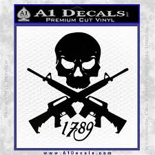 Ar 15 Crossed Skull 1789 Decal Sticker A1 Decals