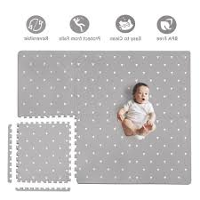 Baby Play Mat With Fence Extra Large 4ft X 6ft Foam Puzzle Floor Mat For Kids Baby Gyms Play Mats