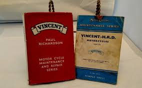 pair of vincent motorcycle books