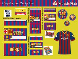 Barcelona F C Kit De Cumpleanos Para Imprimir Cumpleanos