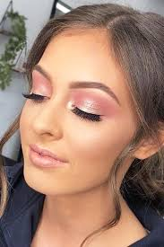 45 top rose gold makeup ideas to look like a dess