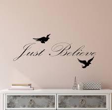 Vinyl Wall Decal Just Believe Motivation Inspirational Positive Words Wallstickers4you
