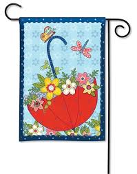 april showers garden flag decorative
