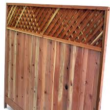 Mendocino Forest Products Redwood Lattice Top Fence Panel Common 6 Ft X 8 Ft Actual 72 In X 96 In 013 Fence With Lattice Top Fence Panels Fence Design