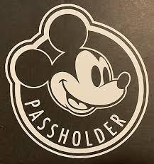 Walt Disney World Disneyland Mickey Mouse Annual Passholder Vinyl Car Decal 8 00 Picclick