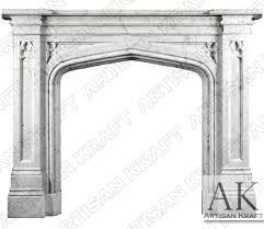 gothic tudor fireplace mantel surround