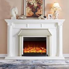 artificial marble fire place flames
