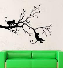 Vinyl Decal Monkey Tree Animal Jungle Woodland Kids Child Wall Sticker Ig2291 Wish