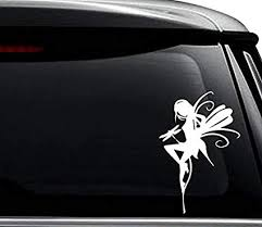 Amazon Com Fairy Dragonfly Fantasy Decal Sticker For Use On Laptop Helmet Car Truck Motorcycle Windows Bumper Wall And Decor Size 6 Inch 15 Cm Tall Color Gloss White Arts Crafts Sewing