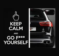 Keep Calm And Go F Ck Yourself Window Decal Sticker Custom Sticker Shop