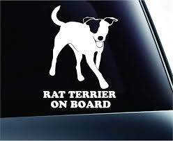 Amazon Com Rat Terrier On Board Dog Symbol Decal Paw Print Dog Puppy Pet Family Breed Love Car Truck Sticker Window White Automotive