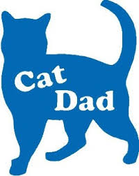 Buy Cat Dad 4 5 Quot Blue Vinyl Car Decal Art Wall Sticker Usa Dog Cat Rescue In Cheap Price On M Alibaba Com