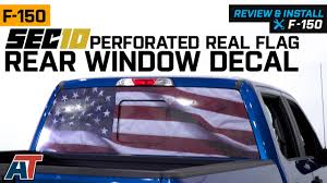 Sec10 F 150 Perforated Real Flag Rear Window Decal T530423 97 20 F 150