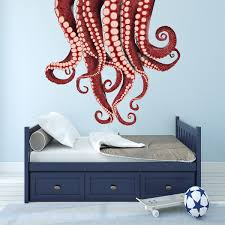 Vwaq Kraken Wall Sticker Vinyl Octopus Tentacles Decal Sea Monster Decorations Na05 Walmart Com Walmart Com