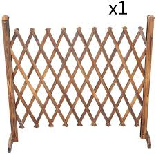 Amazon Com Wwwang Garden Fence No Dig Foldable Picket Fencing Carbonization Solid Wood Flower Stand Border Edge Panels Color 1pc Size 150x97cm Garden Outdoor