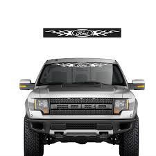 New Ford Fire Flame Car Truck Front Back Windshield Window Decal Stick Emblem Ebay