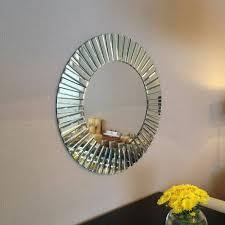 cheerful round design mirror sunny