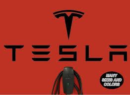 Tesla Logo Wall Decal Luxury Sport New Modern Car Decor Art Mural Vinyl Sticker Decor Decals Stickers Vinyl Art