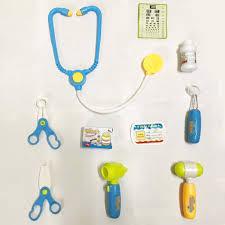 Bộ đồ chơi bác sĩ - Màu xanh có đèn báo (Quai xách vuông) – DUKA.VN