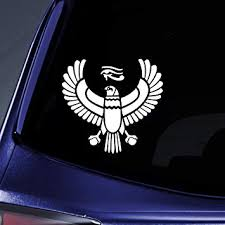 Amazon Com Bargain Max Decals Egyptian Eagle Silhouette Sticker Decal Notebook Car Laptop 5 5 White Automotive
