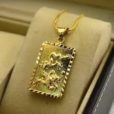 24k yellow gold filled necklace pendant