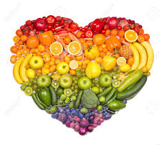 Rainbow Heart Of Fruits And Vegetables Stock Photo, Picture And ...
