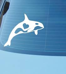 Orca Whale Love Car Or Laptop Vinyl Decal Orca Decal Or Etsy