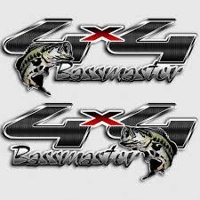 Bassmaster 4x4 Ford Fishing Truck Decals Carbon Fiber Bass Sticker