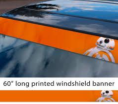 Buy 60 Bb 8 Droid Force Awakens Rebel Alliance Star Wars First Order Sun Strip Printed Car Vinyl Sticker Decal