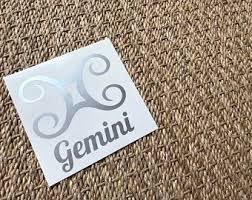 Gemini Car Decal Etsy