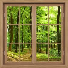 3d Hot Brown Window Forest Window Frame Window Mural Vinyl Bedroom Vinyl Wallpaper Wall Decals Stickers Christmas Wall Sticker Wall Stickers Aliexpress