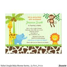Invitaciones De Baby Shower De La Selva Del Safari Zazzle Com