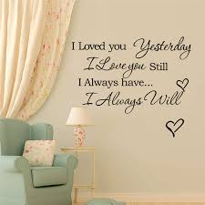 I Love You Yesterday I Love You Still Today Love Warm Quote Wall Stickers For Kids Rooms Home Decor Diy Wall Decal Vinyl Mural Sticker For Kids Room Wall Stickers For Kidswall Sticker