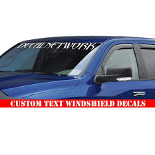 Custom Text Windshield Decal Window Banner Personalized Etsy