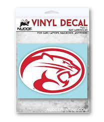 University Of Houston Cougar Logo Vinyl Car Decal Sticker Nudge Printing