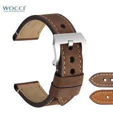 wocci brown leather watch straps for