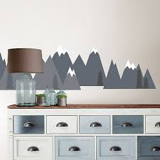 Wallpops Mountain Range Vinyl Wall Decal Set In Grey Bed Bath Beyond
