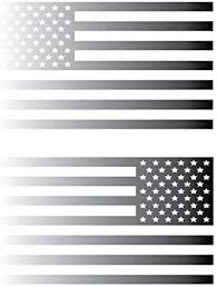 Amazon Com Usa Subdued Single Color American Flag 50 Stars 2 Vinyl Die Cut Decals Includes Standard And Reversed Designs Medium Silver Automotive