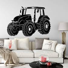 Large Tractor Truck Farm Wall Sticker Kids Room Bedroom Tractor Car Farmhouse Wall Decal Playroom Vinyl Decor Wish