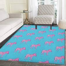 Amazon Com Pink Zebra Rug Kid Carpet Zebras Savannah Fashion Grunge Stylized Exotic Lands Artsy Illustration Home Decor Foor Carpe 4 X6 Blue Pink And White Kitchen Dining