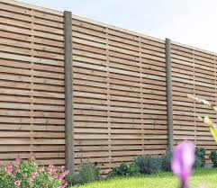 Forest Double Slat Contemporary 6 X 6 Ft Fence Panel Gardensite Co Uk