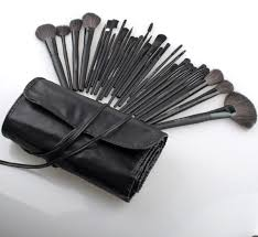 cosmetic brushes make up kit pouch case