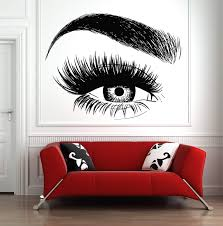 Amazon Com Lashes Eyelashes Eyebrows Brows Beauty Salon Decor Wall Decal Sticker Eye Quote Make Up 1059t Baby