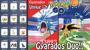 UNIQUE 12 Gyarados Raid Boss DUO/2 MAN In Pokémon GO! (w ...